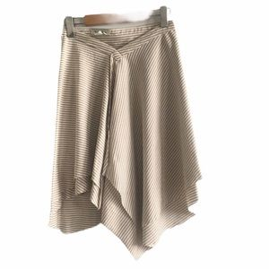 3/$30 Off-White Striped 2-in-1 Skirt & Poncho S/M